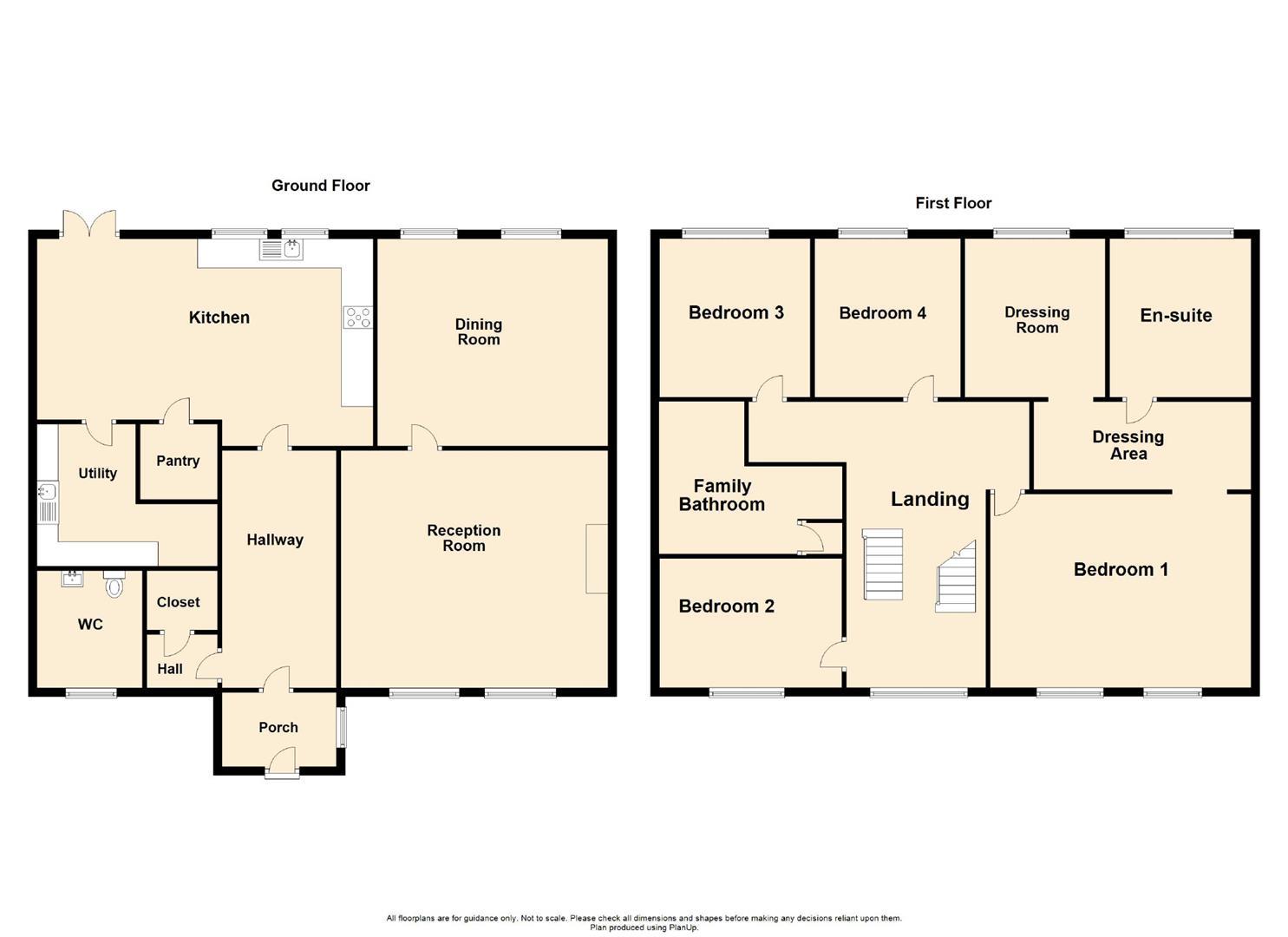 5 Bedroom Link Detached House For Sale - Floorplan 1